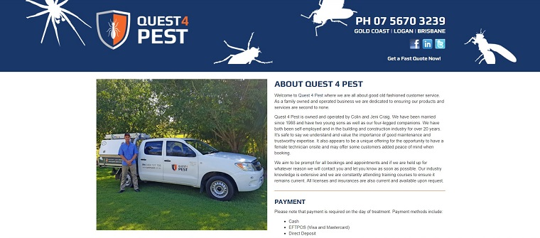Quest 4 Pest's Homepage