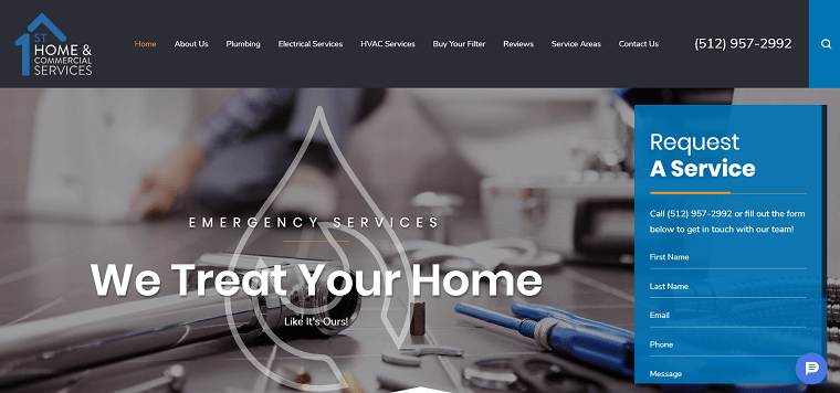 1st Home & Commercial Services' Homepage