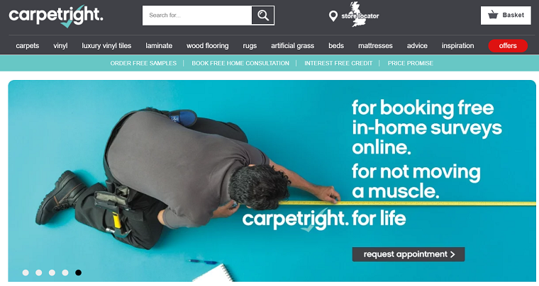 Carpetright's Homepage