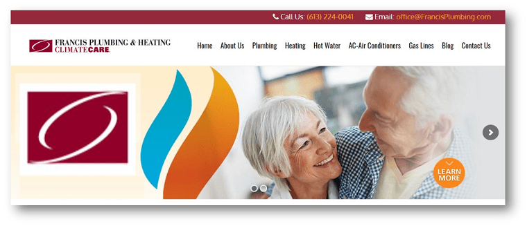 Francis Plumbing & Heating Climate Care's Homepage