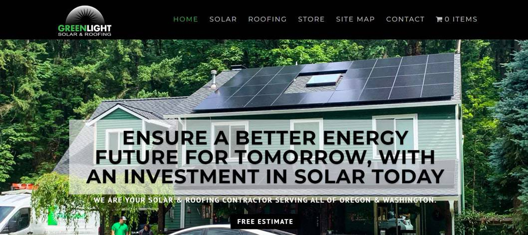 GreenLight Solar & Roofing's Homepage