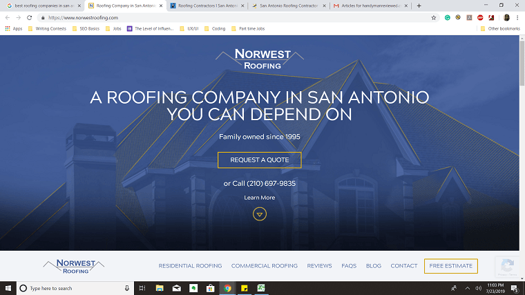 Norwest Roofing's Homepage