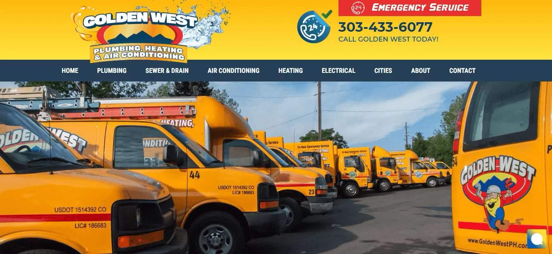 Golden West Plumbing, Heating & Air Conditioning's Homepage