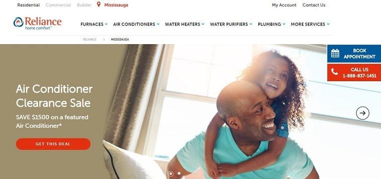 Reliance Home Comfort's Homepage
