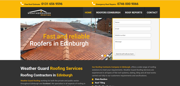 Weather Guard Roofing Services Ltd's Homepage