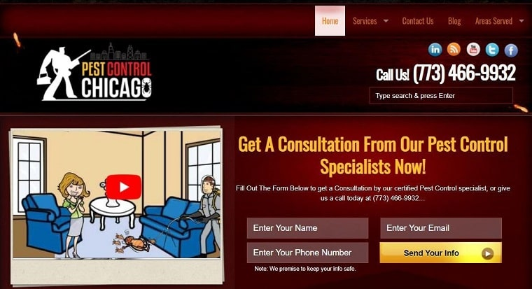 Pest Control Chicago's Homepage
