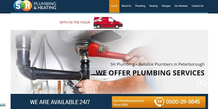 SH Plumbing & Heating's Homepage