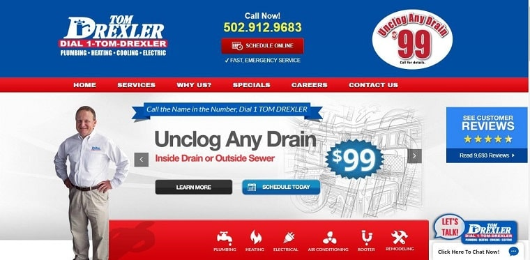Tom Drexler Plumbing, Air & Electric's Homepage