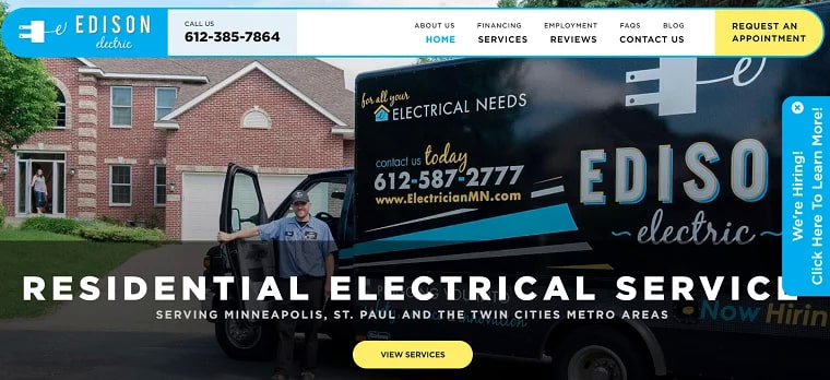 Edison Electric, Inc.'s Homepage