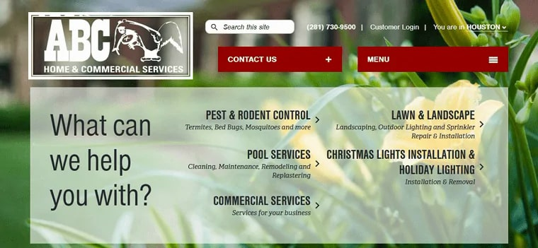 ABC Home and Commercial Services' Homepage