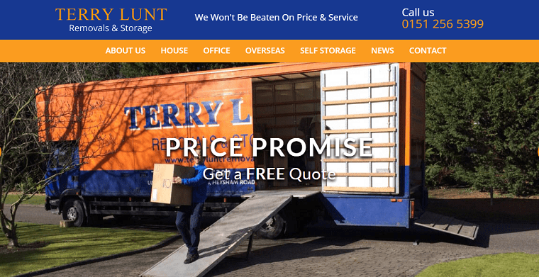 Terry Lunt Removals & Storage's Homepage