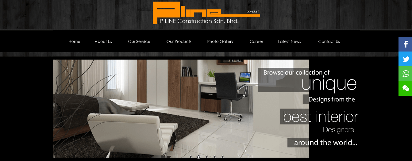 P Line Construction Sdn. Bhd.'s Homepage