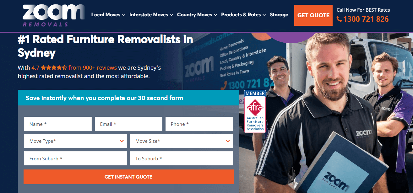 Zoom Removals' Homepage