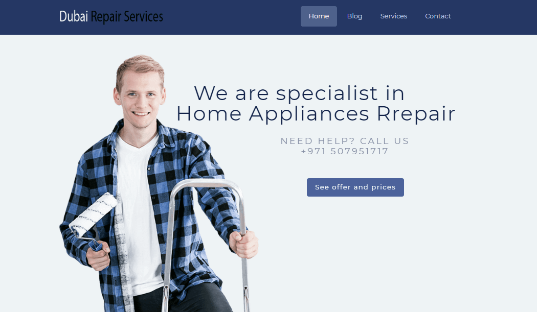 Dubai Repair Services' Homepage