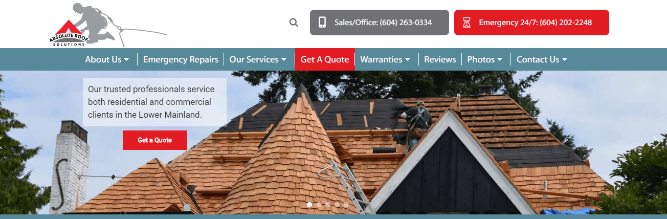 Absolute Roof Solution's Homepage