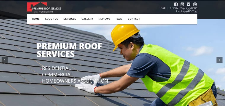 Premium Roof Services, Inc.'s Homepage