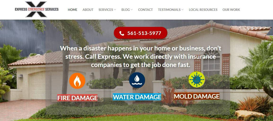 Express Emergency Services' Homepage