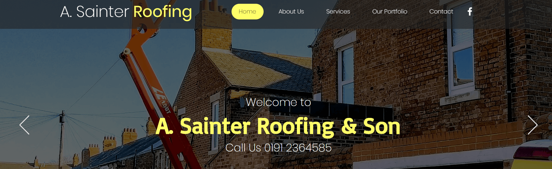 A Sainter Roofing Services' Homepage