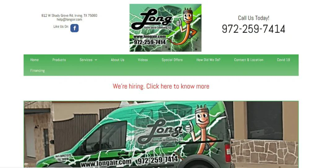 Long Electric and Air Conditioning's Homepage