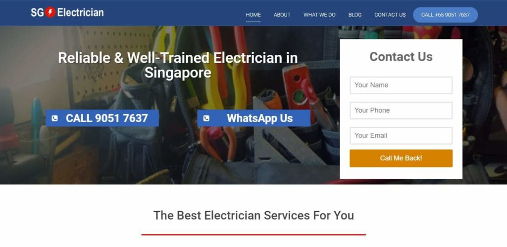 SG1 Electrician's Homepage
